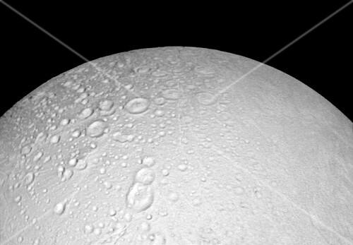 Saturn's moon Enceladus, Cassini image