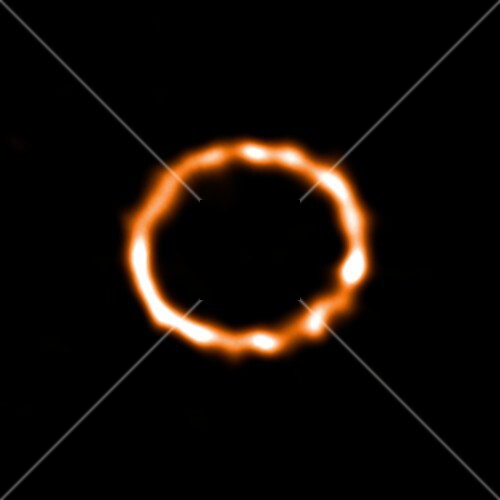 Debris disc around star HD 181327, ALMA image