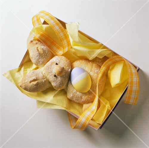 Bunny Pastry with Easter Egg as a Gift