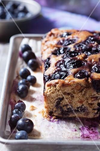 Loaf of blueberry walnut bread