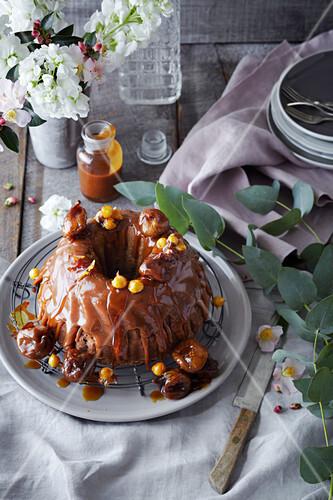 Fig and Caramel Bundt Cake