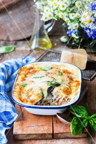 Eggplant bake with meat