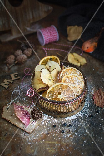 Dried apples and oranges for Christmas