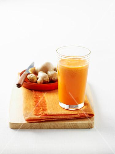 Carrot, Orange and Garlic Juice