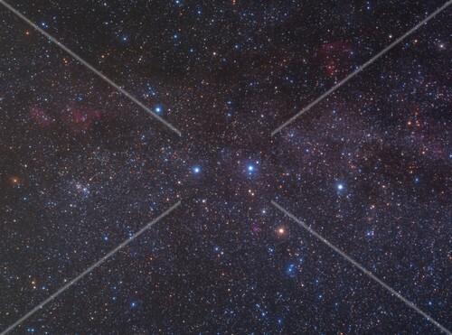 Cassiopeia constellation, optical image