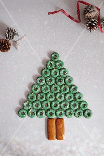 Christmas gingerbread rings