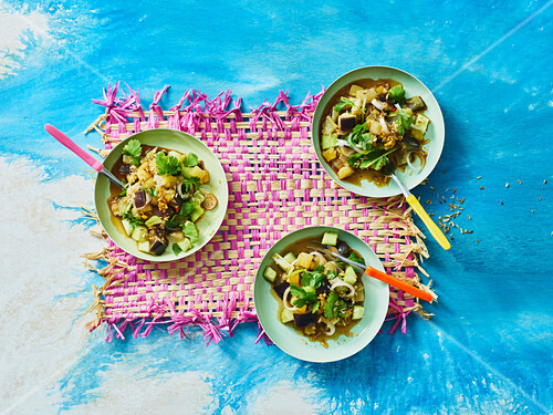 Aubergine and pineapple salad with coconut (Yap Island)