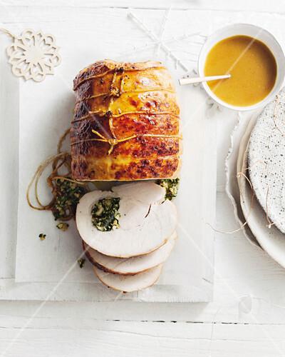 Orange, verjuice and honey roast turkey breast