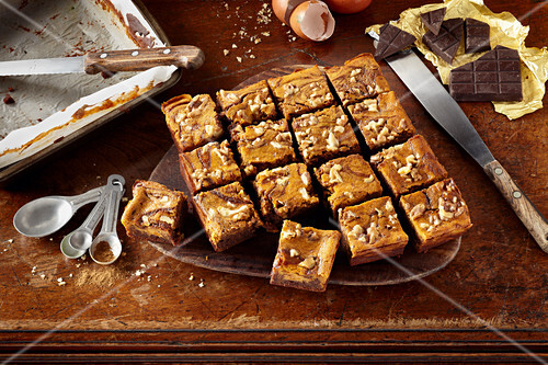 Marbled Pumpkin Pie Brownies