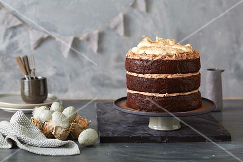 A festive Easter cream cake