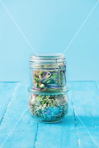 Salads in jars
