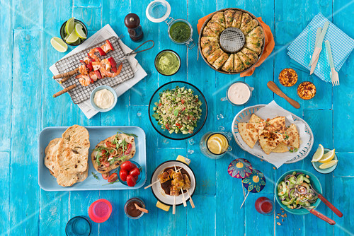Various Mexican dishes