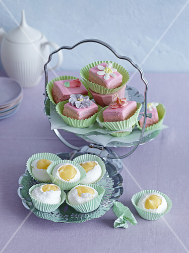 Various petit fours for Easter