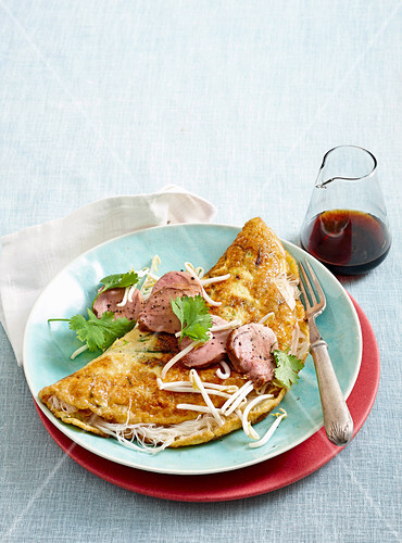 Hoisin pork and vermicelli omelette