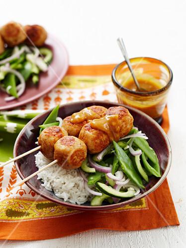 Satay Chicken Balls