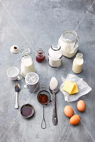 Ingredients for Lamington