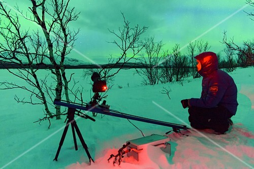 Photographing the Northern Lights, Lapland, Sweden