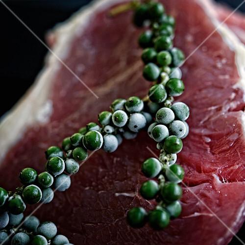 Gereiftes Rindfleisch mit grünem Pfeffer (Australien)