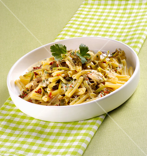 Caserecce with gorgonzola sauce
