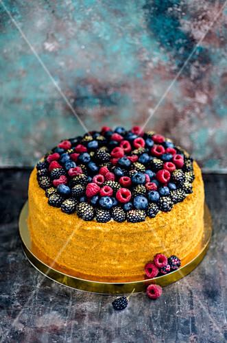 A summer berry cake