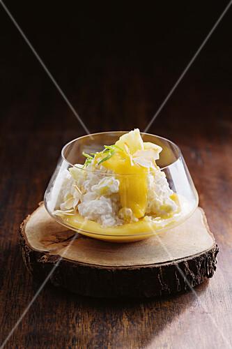Pineapple tapioca pudding