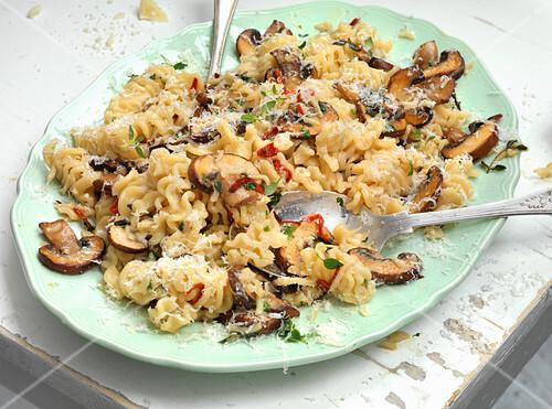 Pannocchie pasta with mushroom
