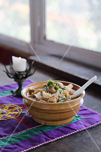 Vegetable stew from Tibet