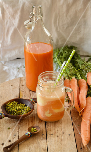 Havij Bastani (carrot juice floats, Persia)