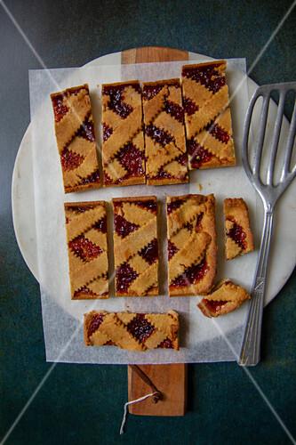 Crostata with jam