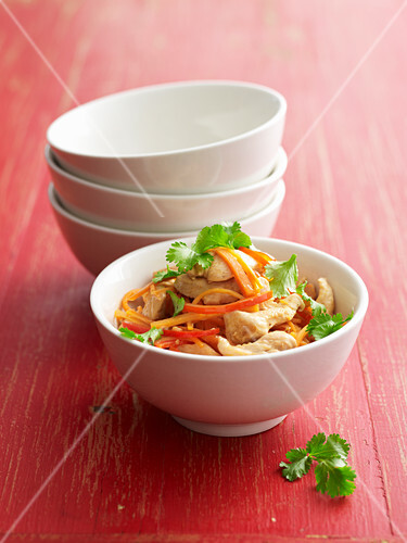 Ingwer-Teriyaki-Huhn aus dem Wok