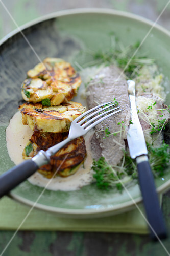 Ox brisket with a horseradish sauce and napkin dumplings
