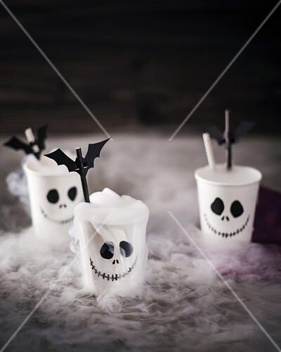 Jack skeleton cups and batty straws