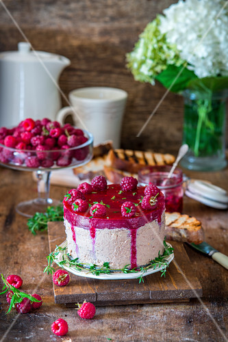 Chicken liver pate with raspberry jelly