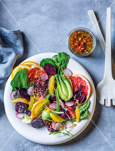 Roasted beetroot and citrus salad