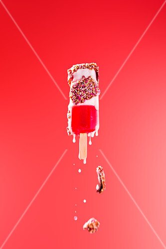 Abstract image of a fab ice lolly ice cream dripping and melting