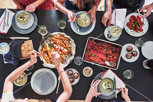 A Fancy Veggie Dream table scene