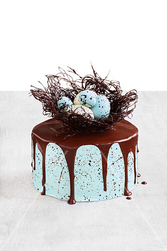Amazing chocolate speckled cake for Easter