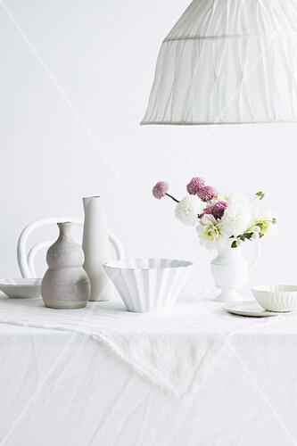 Gedeckter Tisch für eine Tea Party