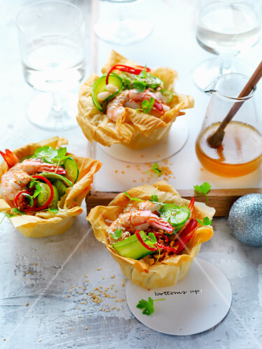 Prawn and Cucumber Tarts