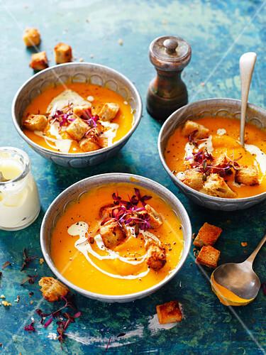 Roasted Pumpkin and Kumara Soup
