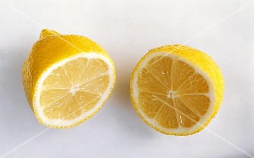Single Lemon Cut in Half
