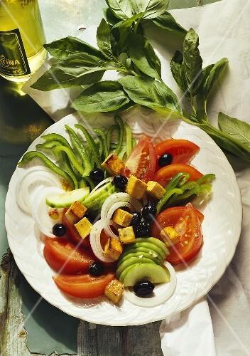 Mixed Vegetable Salad with Tofu
