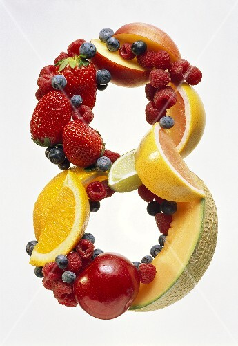 Fruit Forming the Number 8