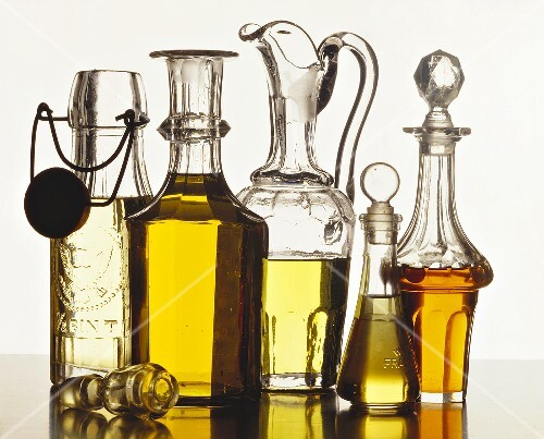 Still life with various oils and vinegar