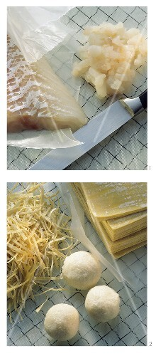 Preparing cod balls