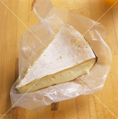 A piece of Vacherin cheese