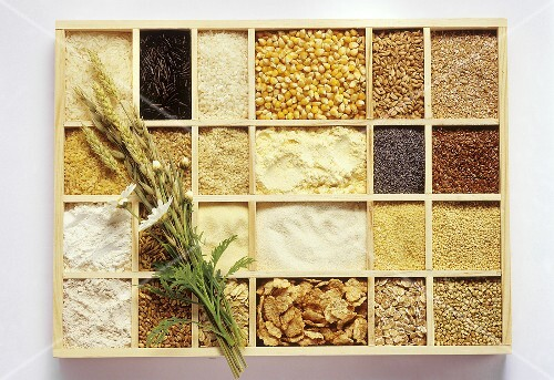 Cereals, rice and cereal products in typesetter's case