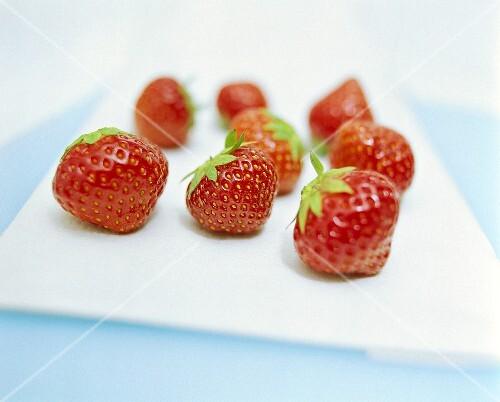 A few strawberries
