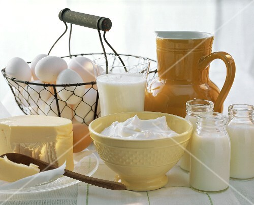 Dairy Still Life with Eggs