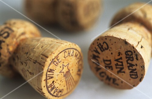 Various champagne corks